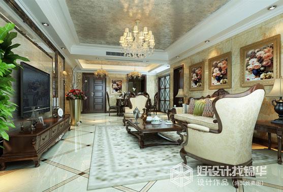 锦华装饰海安公司装修图片-两室两厅装修效果图-欧式