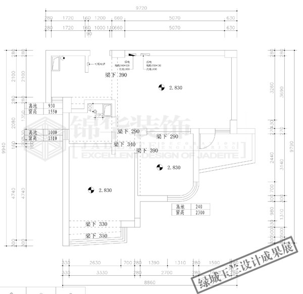 户型解析 > 绿城玉兰公寓一期,二期 85套设计成果展  绿城玉兰公寓2