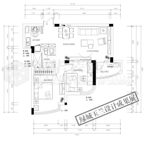 绿城玉兰公寓一期,二期 85套设计成果展户型解析-装修