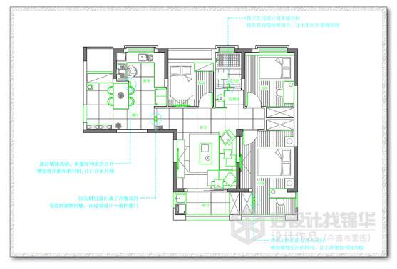 59# 08戶型 102平米-裝修設計方案-南通錦華裝飾