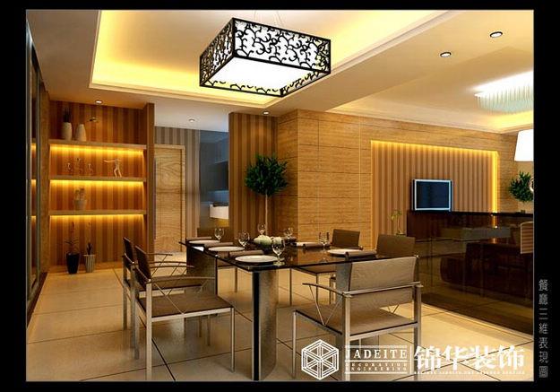 水榭花都装修图片-三室两厅装修效果图-现代简约风格