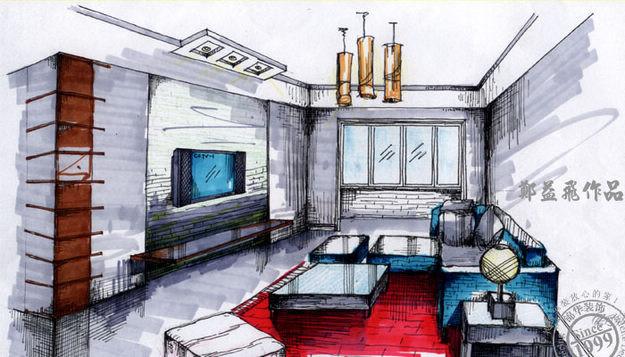 室内设计欧式风格效果手绘图